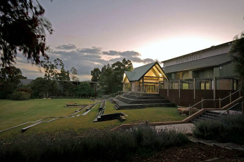 Arrowfield Winery - front sunset