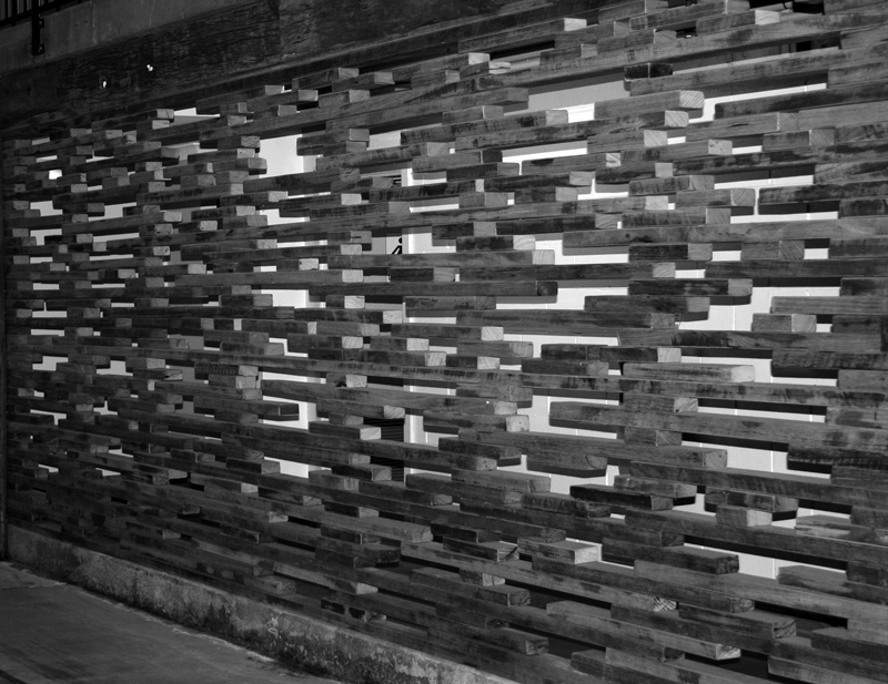Arrowfield Winery - internal partition wall detail