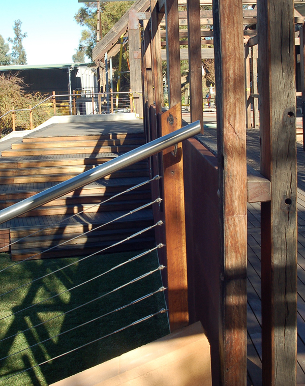 Arrowfield Winery - handrail & post details