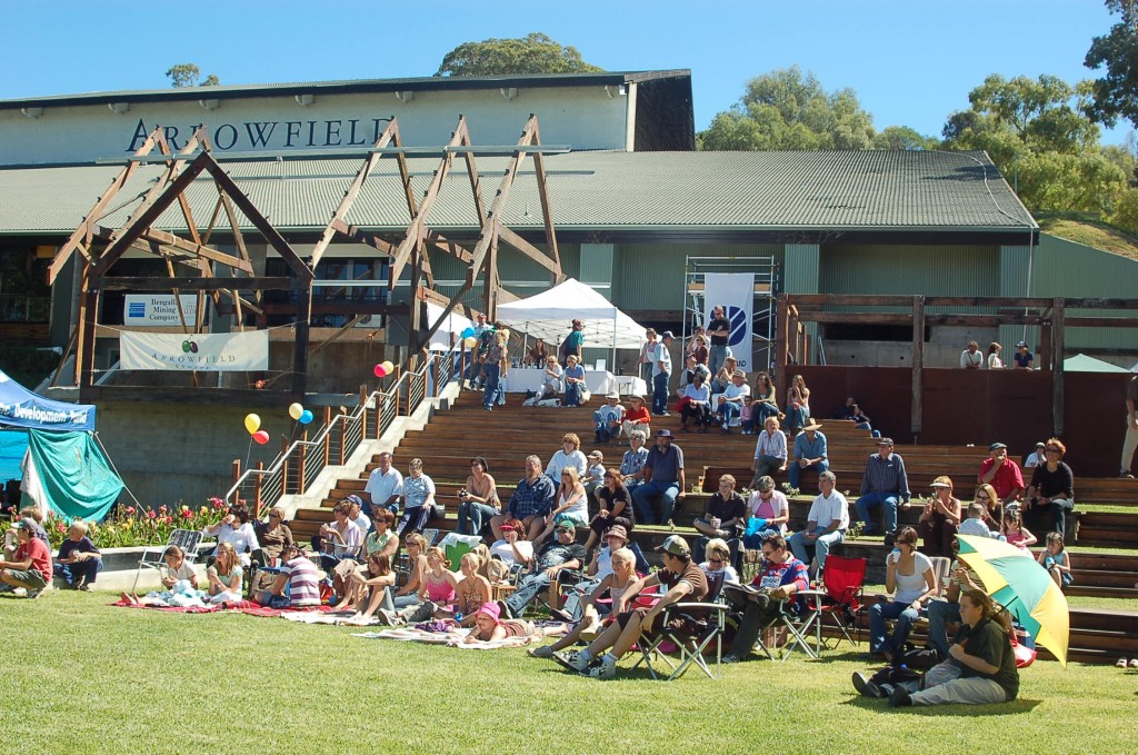 Arrowfield Winery - unfinished front with Jazz Festival