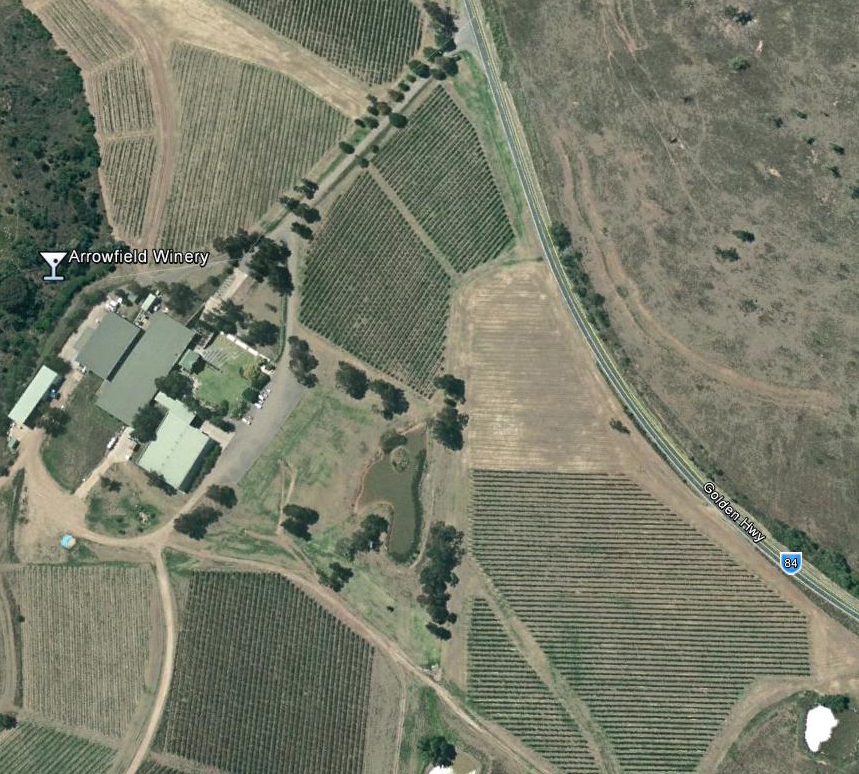 Arrowfield Winery - Aerial