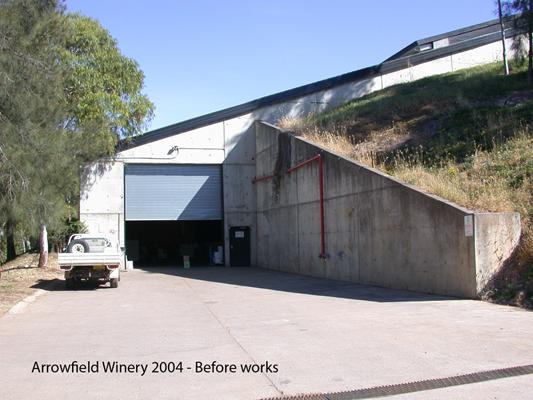 Arrowfield Winery - Before works
