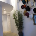 Entry with hat collection